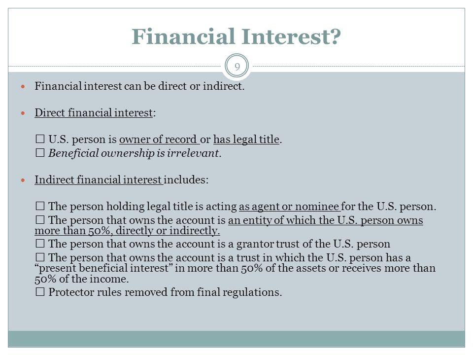 Financial Accounts.