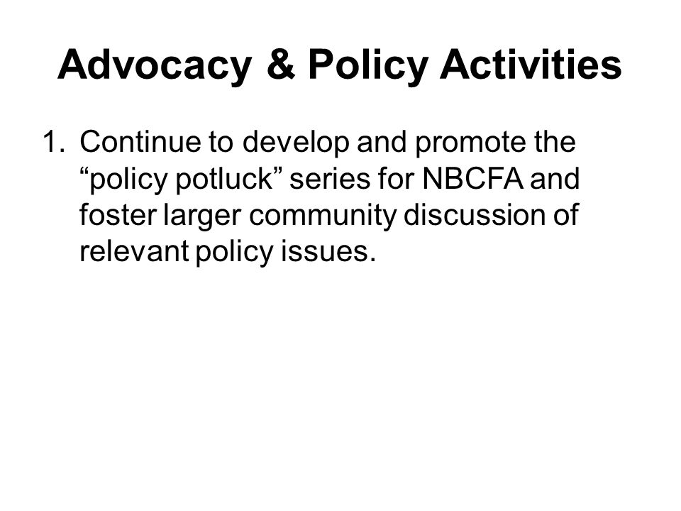 Policy Potlucks October 30 – Food, Labor & Social Justice –Issues affecting workers in the food chain, including restaurant workers and agricultural workers, such as wage theft, exposure to pesticides, the right to organize, fair labor practices, paid sick leave.