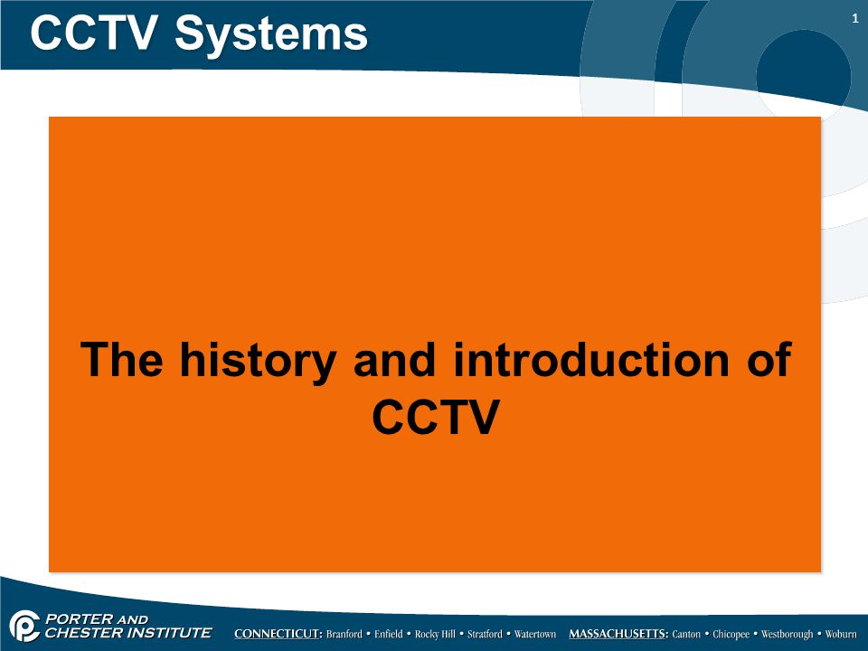 1 CCTV Systems The history and introduction of CCTV