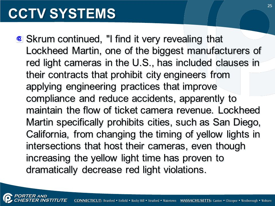 25 CCTV SYSTEMS Skrum continued,