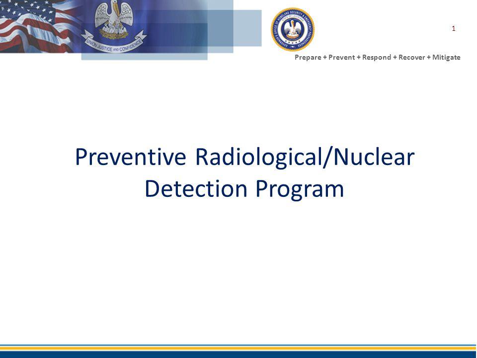 Prepare + Prevent + Respond + Recover + Mitigate Preventive Radiological/Nuclear Detection Program 1