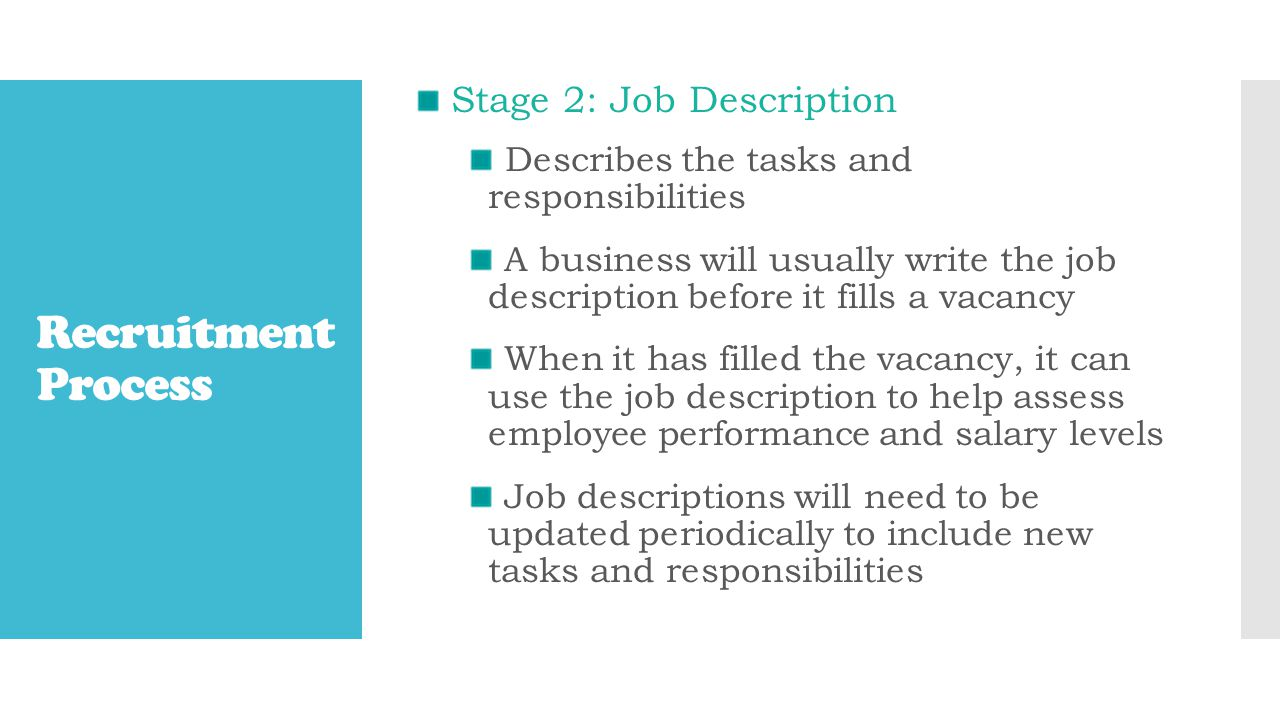 Stage 2 Job Description Job Description TitleJob GradeLocationReporting to Purpose of Job Salary Specific tasks and responsibilities