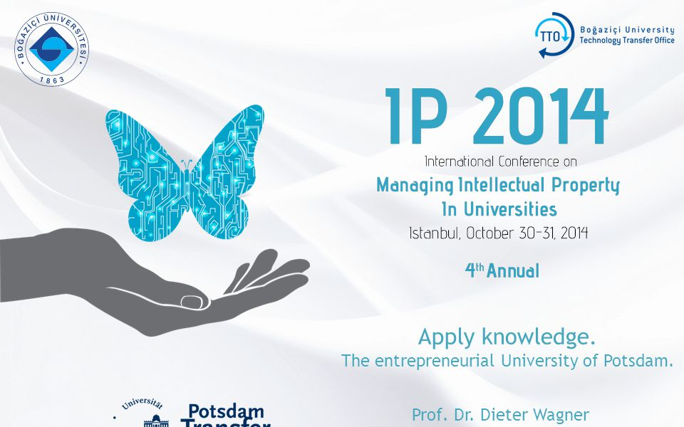 Apply knowledge. The entrepreneurial University of Potsdam. Prof. Dr. Dieter Wagner