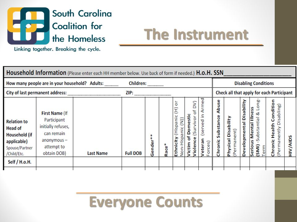 Everyone Counts Everyone Counts The Instrument The Instrument