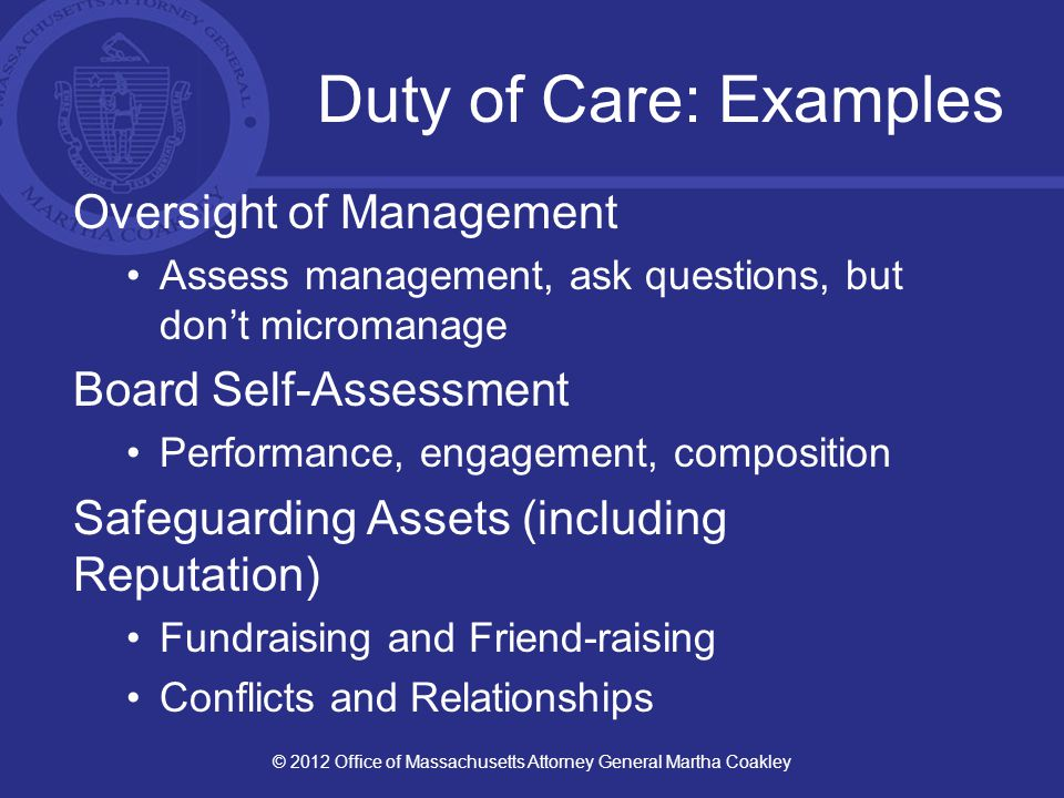 Duty of Loyalty Act in good faith in a manner you reasonably believe to be in the organization's best interests.