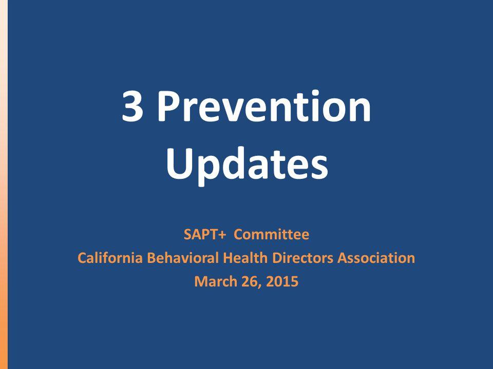 The 3 Prevention Updates CHKSMarijuana National Prevention Strategies