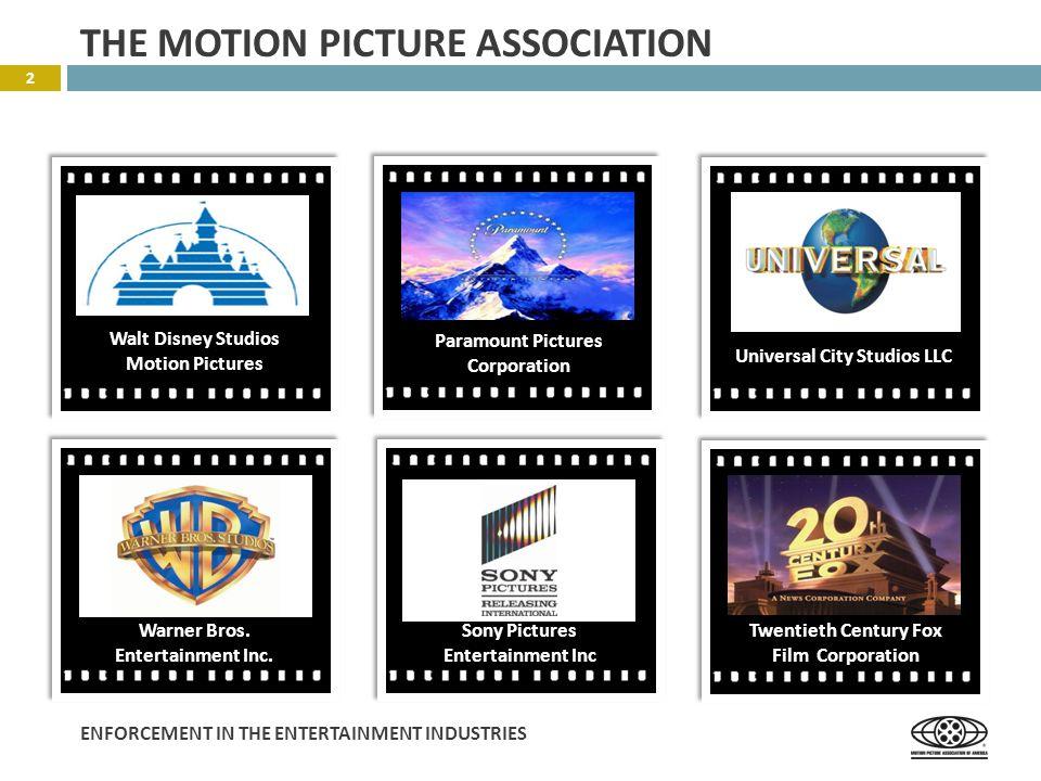 ENFORCEMENT IN THE ENTERTAINMENT INDUSTRIES  Numerous copyright infringement actions against DVD sellers.