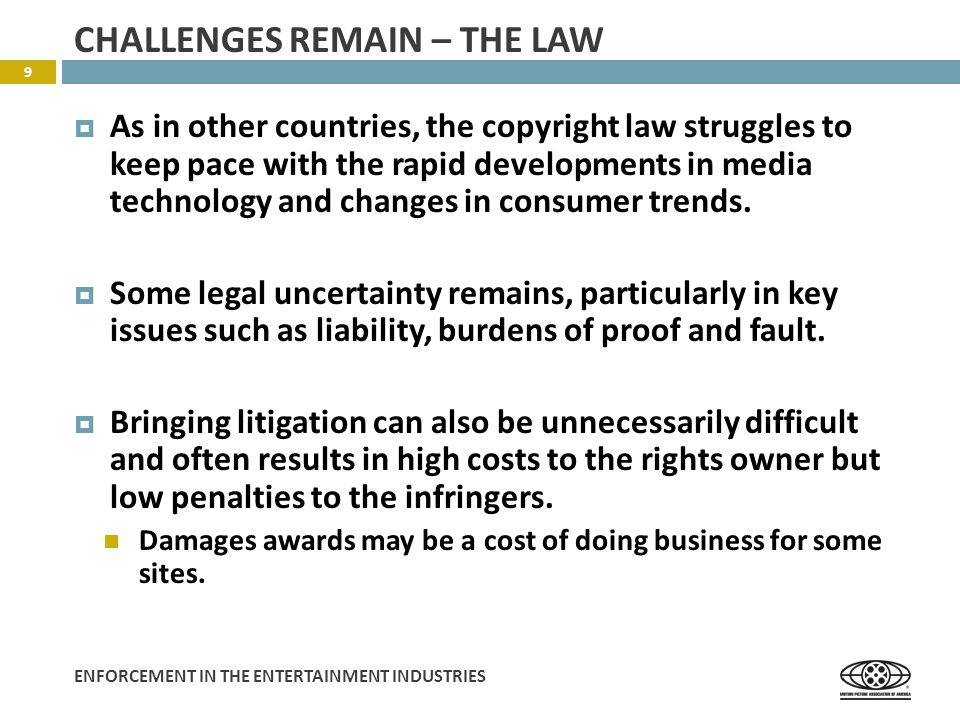 ENFORCEMENT IN THE ENTERTAINMENT INDUSTRIES XUNLEI – AN EXAMPLE 10