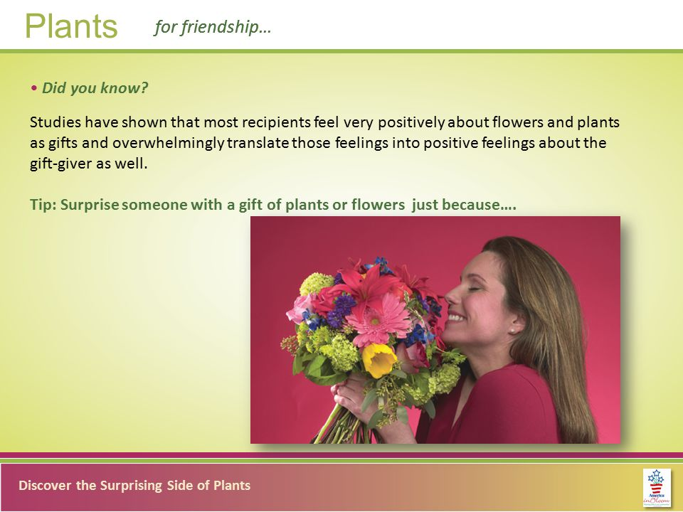 Discover the Surprising Side of Plants Plants for friendship… Did you know.