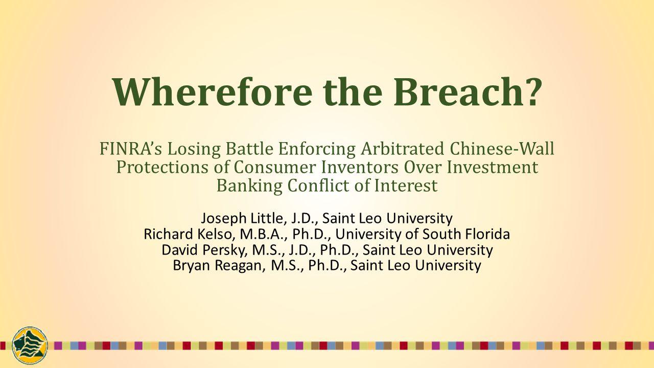 Wherefore the Breach.