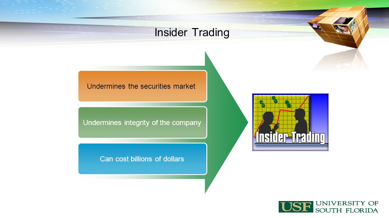 Insider Trading Undermines the securities marketUndermines integrity of the companyCan cost billions of dollars