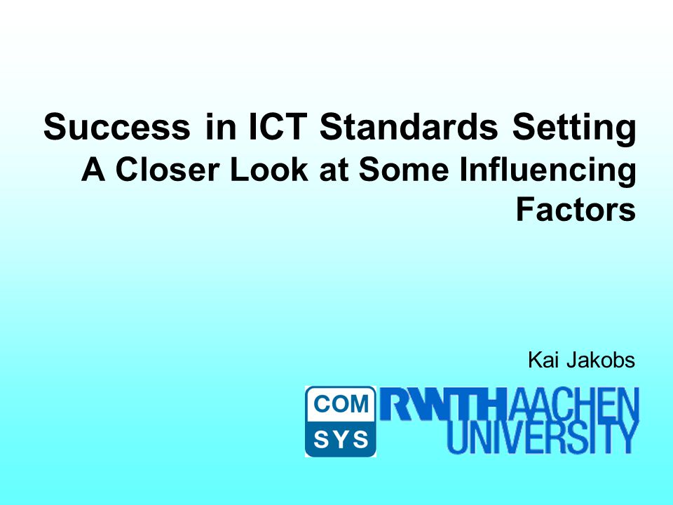 What Influences Standards Setting.