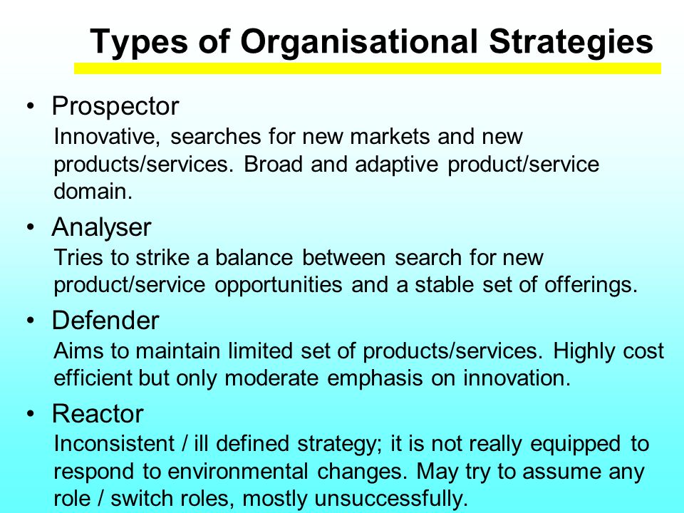 Types of Standardisation Strategies 1 Leader Participation in standards-setting is business critical.
