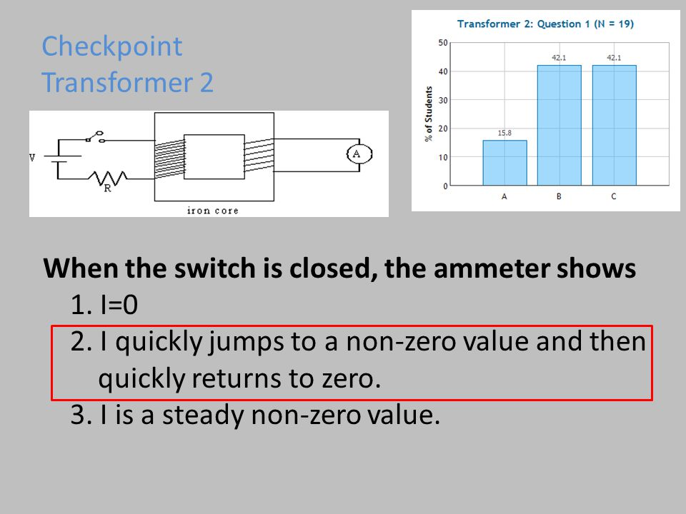 When the switch is closed, the ammeter shows 1. I=0 2.