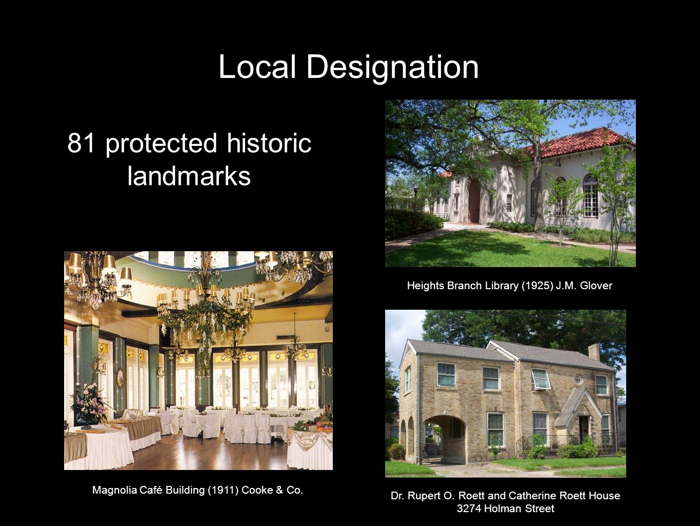 Local Designation 203 historic landmarks Alabama Theatre (1939), W.
