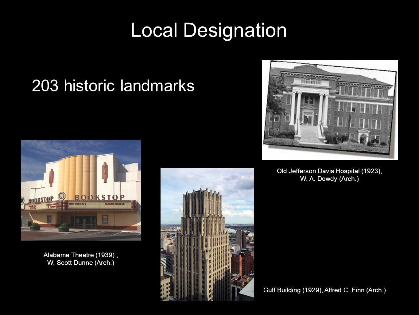 National Register Designation Federal designation of landmarks and districts on the National Register of Historic Places.