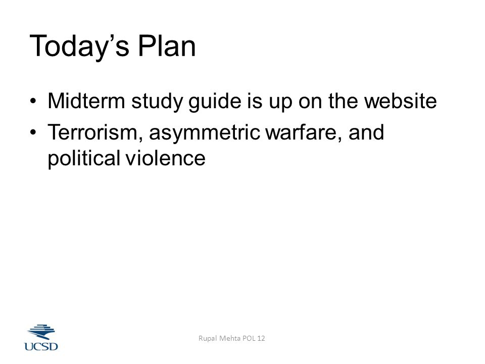Should We Negotiate w/Terrorists.More and better information is always better.