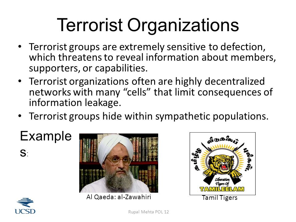 Terrorism as a Bargaining Failure: Incomplete Information Terrorists have private information that they cannot credibly reveal to targets.