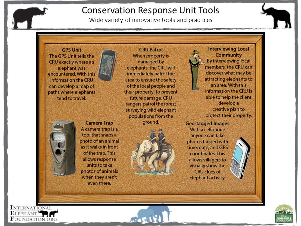 Conservation Response Unit Tools Wide variety of innovative tools and practices