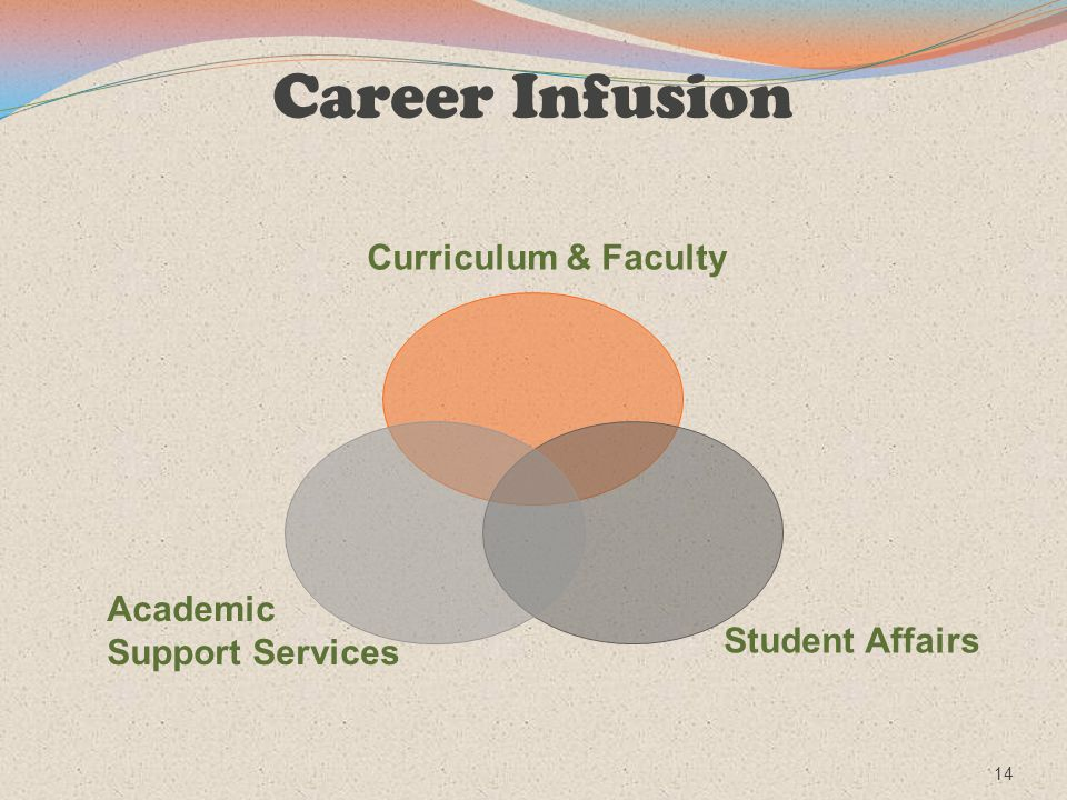 Career Infusion Academic Support Services Student Affairs Curriculum & Faculty 14