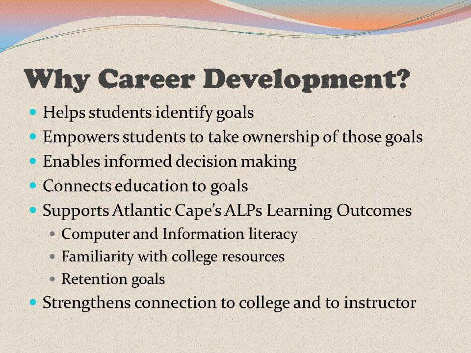 Why Career Development.