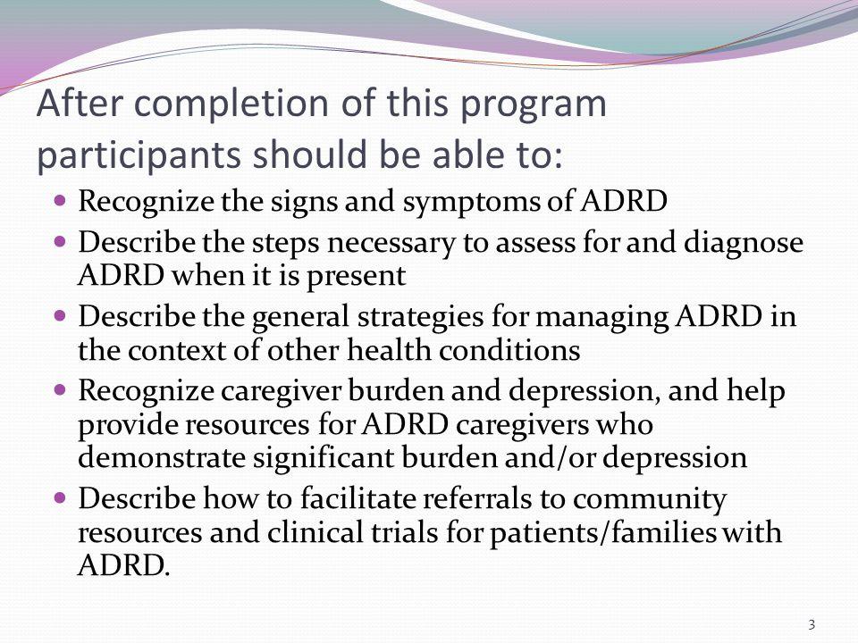 Probable AD: Amnestic Presentation Most common syndromic presentation of AD dementia.