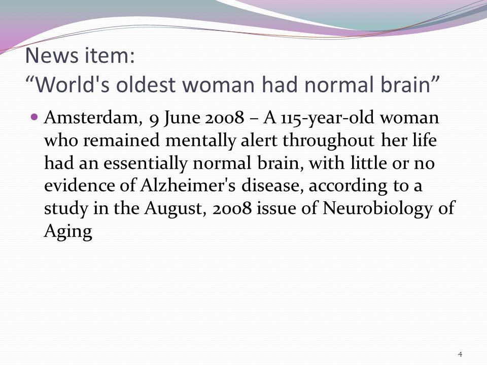 Dementia Is Not Normal Aging.