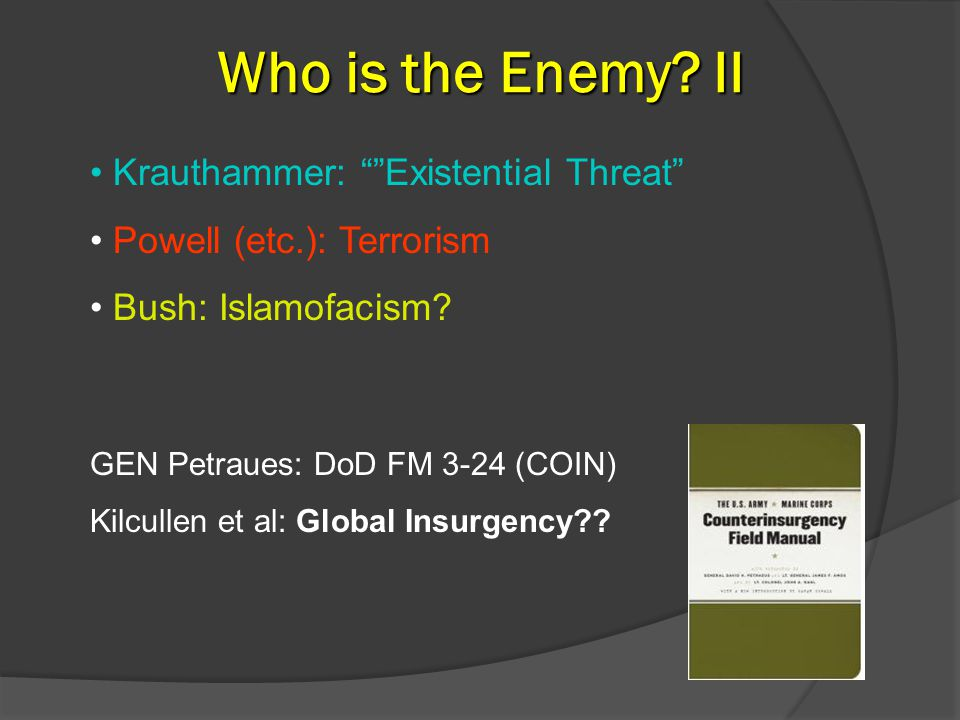 Who is the Enemy.