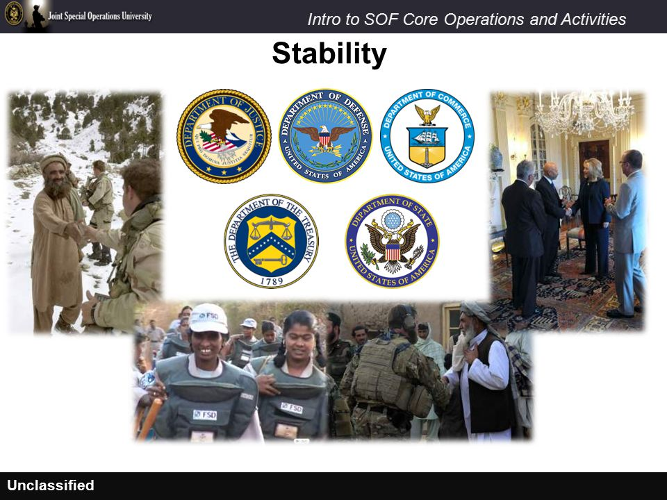 Unclassified Intro to SOF Core Operations and Activities Stability