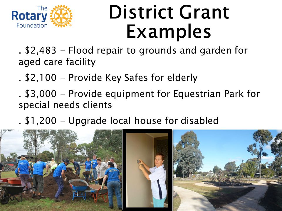 $2,483 - Flood repair to grounds and garden for aged care facility.