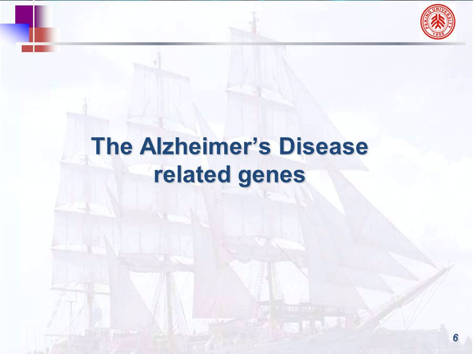 6 The Alzheimer's Disease related genes