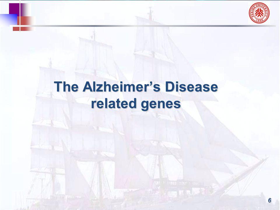 7 Alzheimer's Disease is a genetically complex disease.