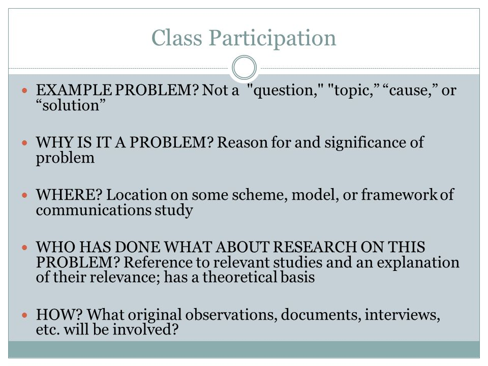 Key Points  The problem statement describes the context for the study and it also identifies the general analysis approach (Wiersma, 1995, p.
