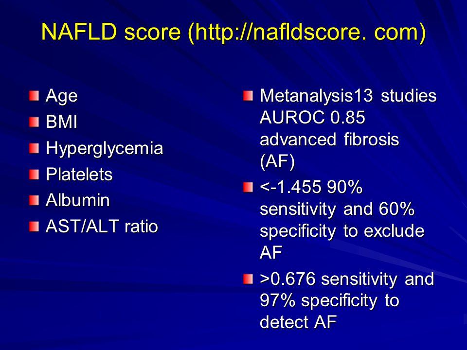 Prognosis Steatosis –no increased risk of end sage liver disease 25-33% NASH have advanced fibrosis at diagnosis 5% NASH progress to end stage liver disease Risk factors; >45, diabetic, obesity, hypertension
