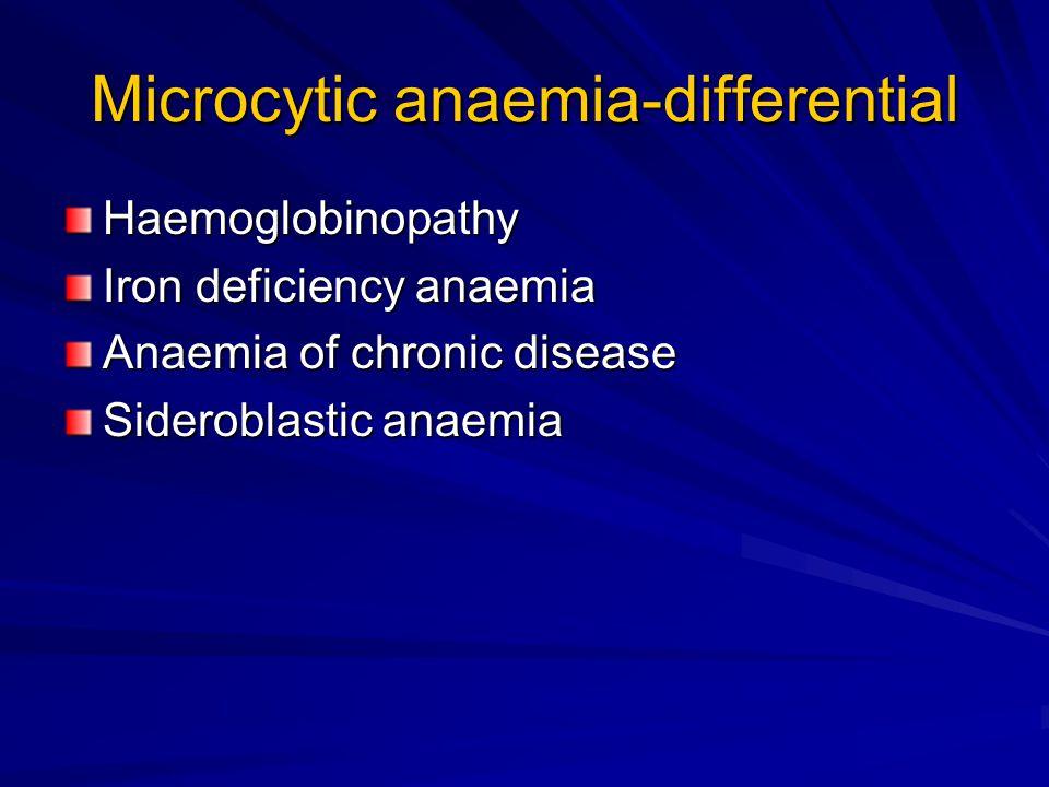 Investigations Repeat Iron studies normal (serum Iron, transferrin, ferrtitin) Hb electrophoresis abnormal Diagnosis-thalassaemia trait