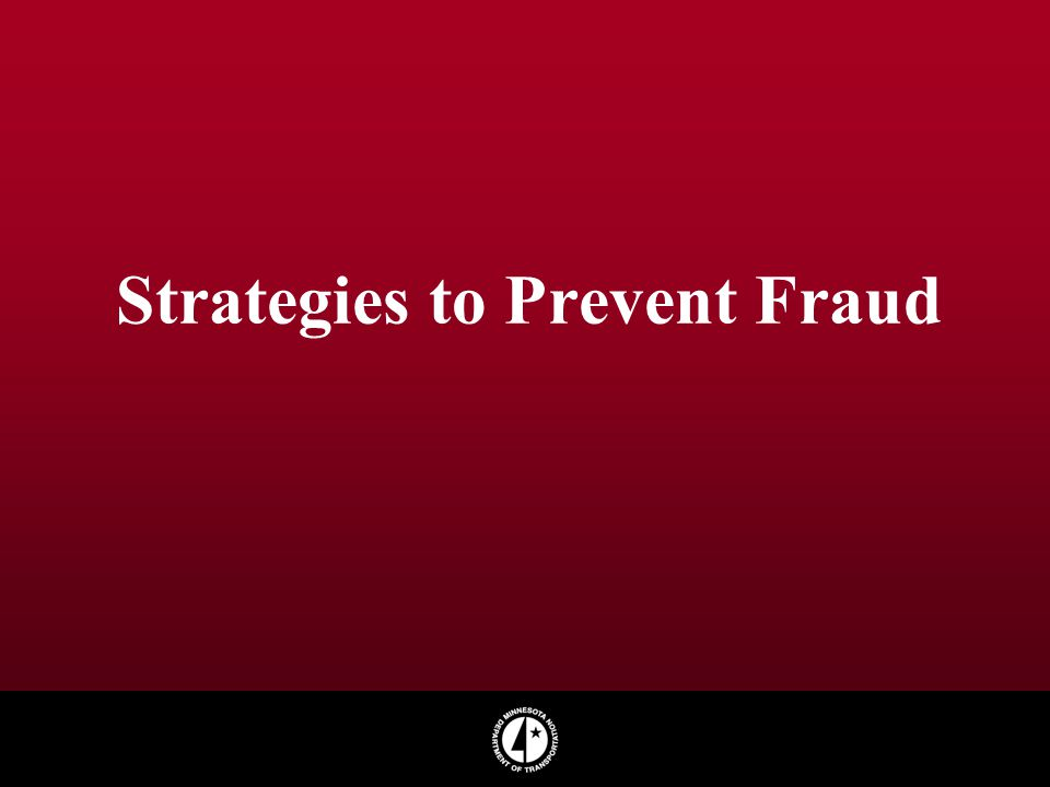 Strategies to Prevent Fraud