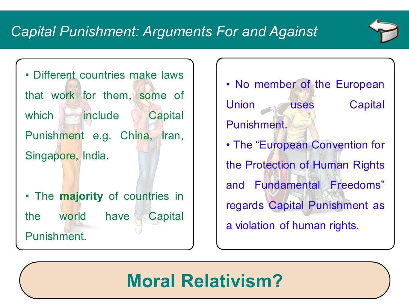 """No member of the European Union uses Capital Punishment. The """"European Convention for the Protection of Human Rights and Fundamental Freedoms"""" regards"""