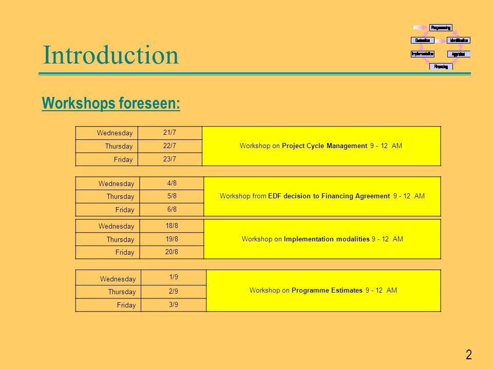 3 Background and documentation EU-Website: http://ec.europa.eu/europeaid/work/procedures/index_en.htm