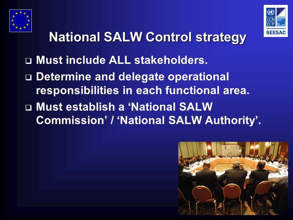 © SEESAC, 2006 National SALW Control strategy  Must include ALL stakeholders.
