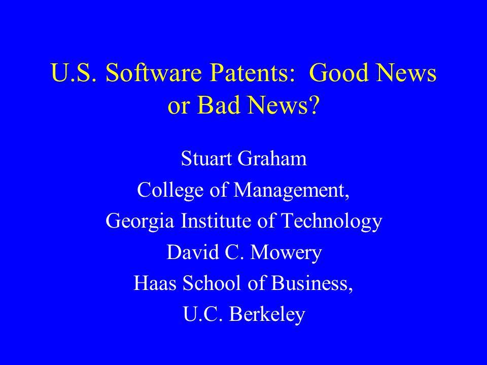 Patents and firm market value (caution: work in progress) Based on Hall, Jaffe, Trajtenberg (2000).