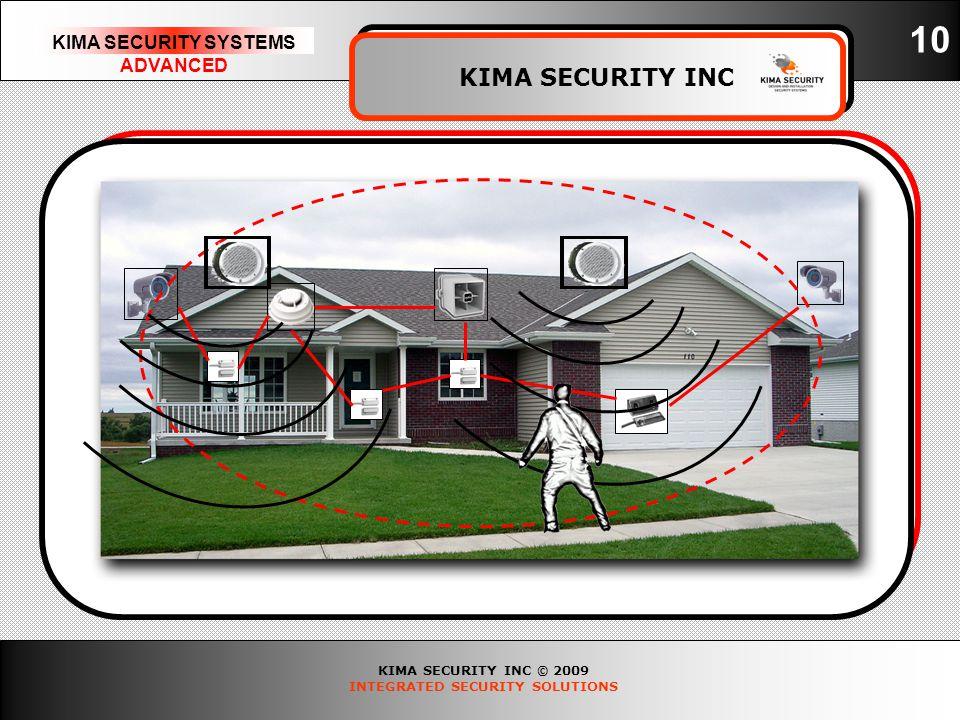 KIMA SECURITY INC © 2009 INTEGRATED SECURITY SOLUTIONS KIMA SECURITY SYSTEMS ADVANCED KIMA SECURITY INC 10