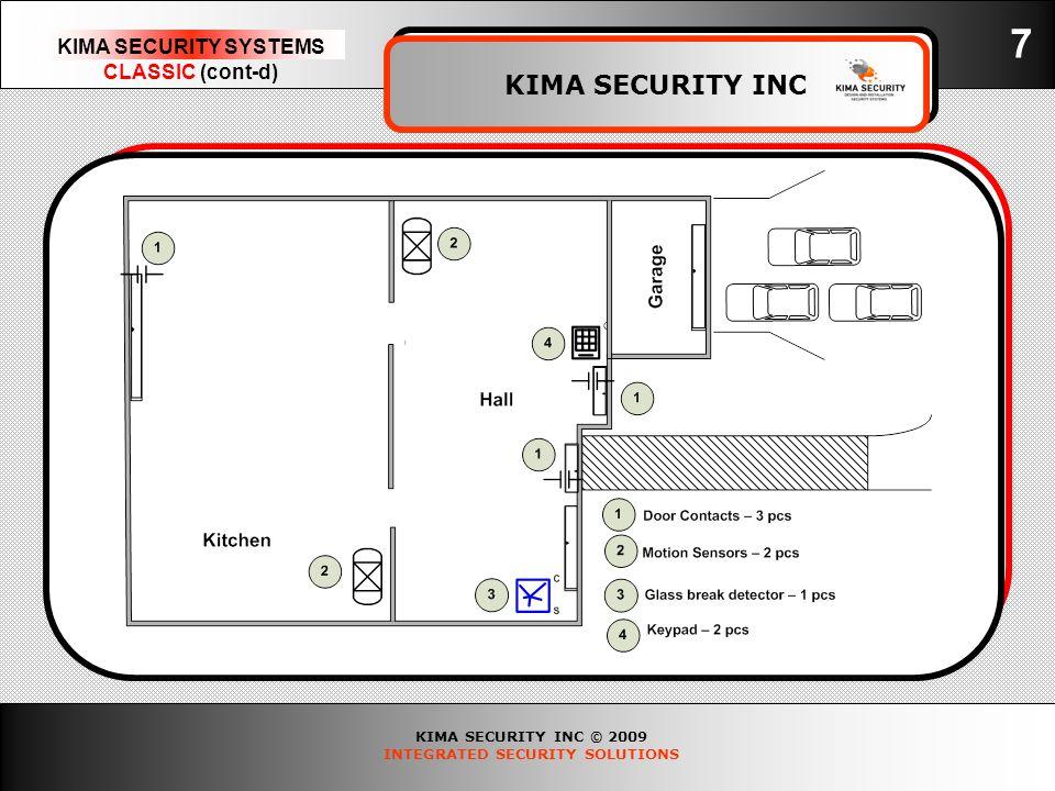 KIMA SECURITY INC © 2009 INTEGRATED SECURITY SOLUTIONS KIMA SECURITY SYSTEMS CLASSIC (cont-d) KIMA SECURITY INC 7