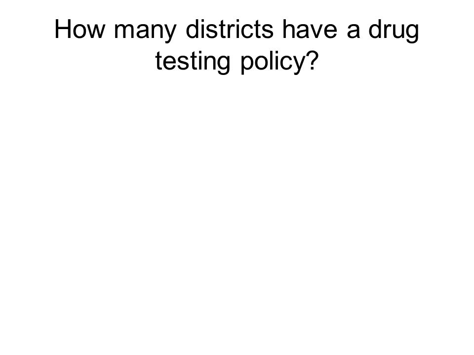 How many districts have a drug testing policy?