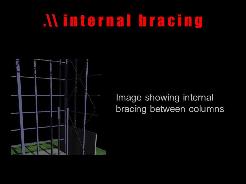 .\\ i n t e r n a l b r a c i n g Image showing internal bracing between columns