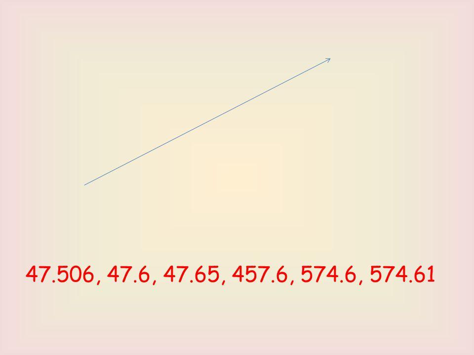 47.506, 47.6, 47.65, 457.6, 574.6, 574.61