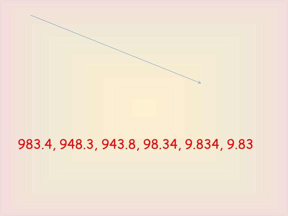983.4, 948.3, 943.8, 98.34, 9.834, 9.83