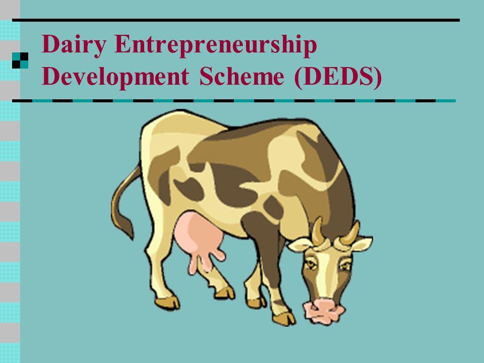 Dairy Entrepreneurship Development Scheme (DEDS)