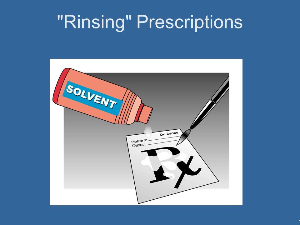 12 Rinsing Prescriptions SOLVENT