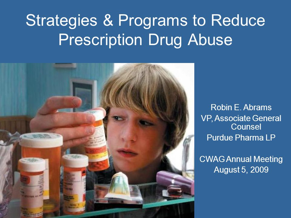 3 Prescription Drug Abuse and Diversion: Why we care.