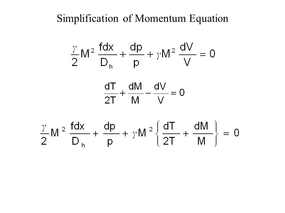 Simplification of Continuity Equation